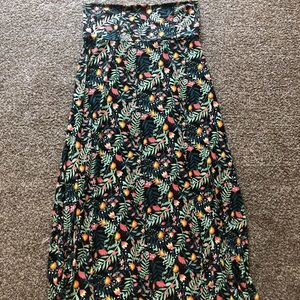 Black Floral LuLaRoe Maxi Dress